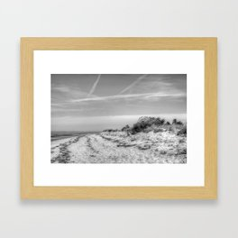 Beach Shrub Framed Art Print