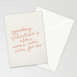 More Wine For Me Stationery Cards