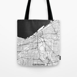 Cleveland Map Gray Tote Bag