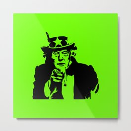 Neon Green Uncle Trump Needs You Metal Print