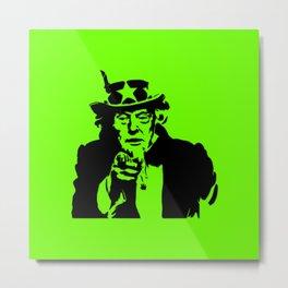 Neon Green Uncle Trump Needs You Metal Print