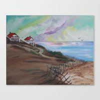 cape cod Canvas Prints featuring Cape Cod by Dawn Hawkins art