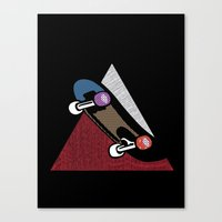 skate Canvas Prints featuring Skate by Keagraphics
