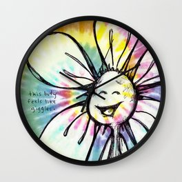 """This Body Feels Like Giggles"" Flowerkid Wall Clock"