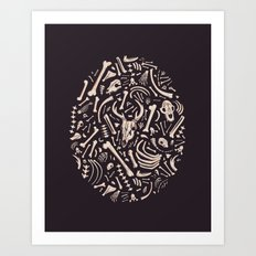 Buried Bones Art Print