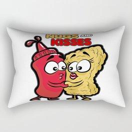 NUGS AND KISSES Romantic Fastfood Love Present Rectangular Pillow