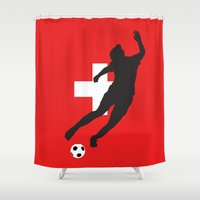 switzerland Shower Curtains featuring Switzerland - WWC by Alrkeaton