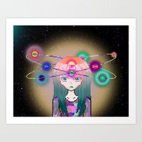 I'm not in this universe Art Print