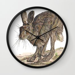 Hare II Wall Clock