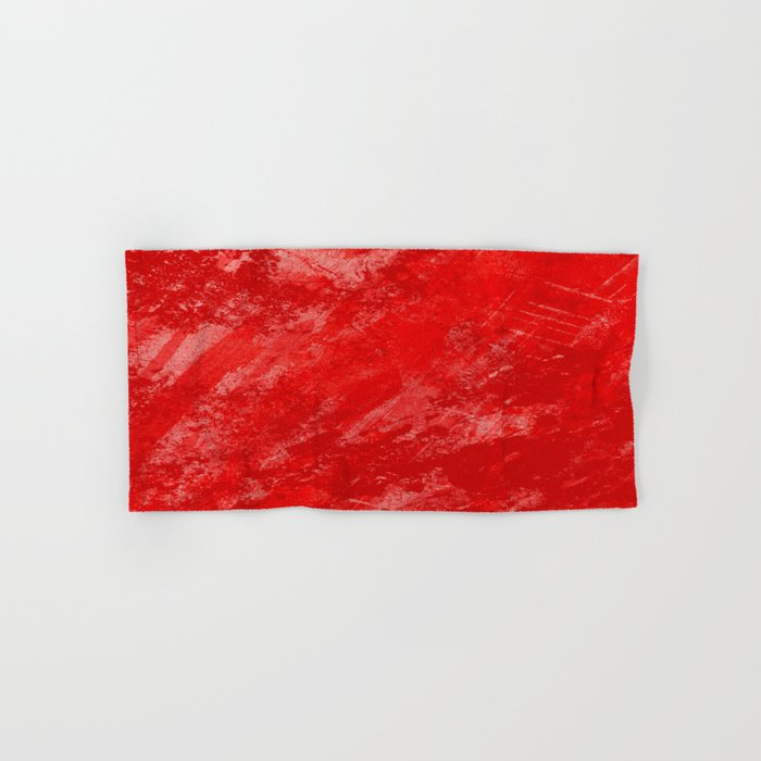 Love And Fury - Abstract painting in red Hand & Bath Towel