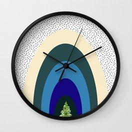 Blue Rainbow - Nature Rainbow Print Wall Clock