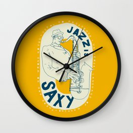 Jazz Is Saxy Wall Clock