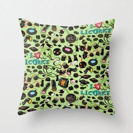 Licorice pattern Throw Pillow