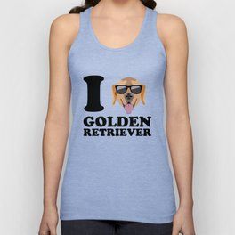 I Love Golden Retriever modern v1 Unisex Tank Top