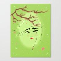 mulan Canvas Prints featuring Mulan by Tiffany Taimoorazy