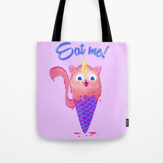 Ice cream cat unicorn Tote Bag
