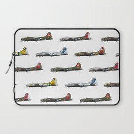 Classic B-17 Flying Fortress Continuous Pattern Laptop Sleeve