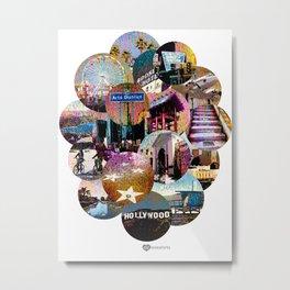 City Cloud-Famous L.A. Locations Metal Print