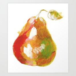Acrylic pear painting Art Print