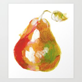 Acrylic pear painting Art Print