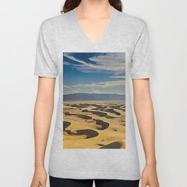 The Goby Desert Bivalent Shades Windy Decomposed Dunes Unisex V-Neck