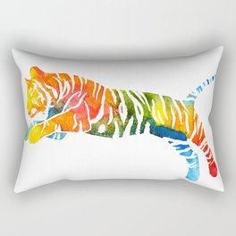 Pouncing Tiger Rectangular Pillow