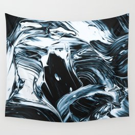 Abstract Chrome Silver Paint IV Wall Tapestry