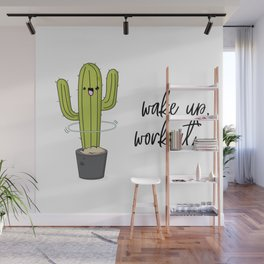 Cactus workout Wall Mural