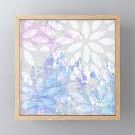 Abstract Splash Flowers Design Framed Mini Art Print