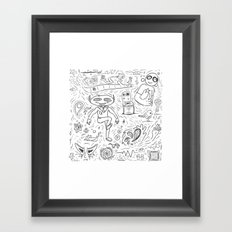 Random Sketches Framed Art Print