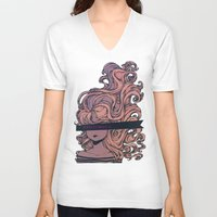 anonymous V-neck T-shirts featuring Anonymous by Ludovic Jacqz
