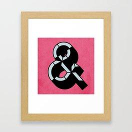 The Ampersand  Framed Art Print