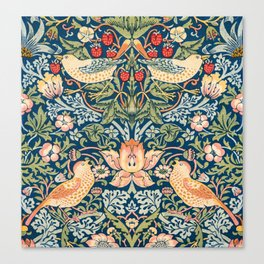The strawberry thieves pattern (1883) by William Morris Canvas Print