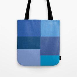 Blue Squares  Tote Bag