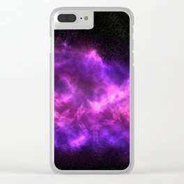 Pink Galaxy Clear iPhone Case