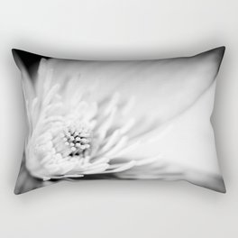 Black and white flower blossom macro Rectangular Pillow