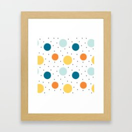 cute colorful pattern with grunge circle shapes Framed Art Print