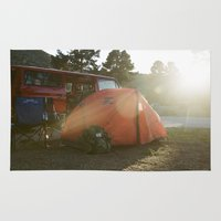 camping Area & Throw Rugs featuring Camping by Cameron Gardner