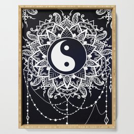 Yin & Yang Decorative Mandala Serving Tray