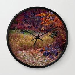 Fall Foliage in Nikko, Japan Wall Clock