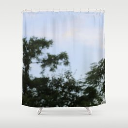sky plants blur Shower Curtain