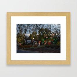 Christmas Candylane Welcome Framed Art Print