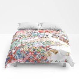 Boston map portrait Comforters