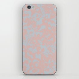 Soft Pink & Gray Floral Silhouette Pattern - Broken but Flourishing iPhone Skin