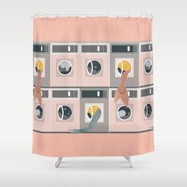 Laundro-mer-mat Shower Curtain