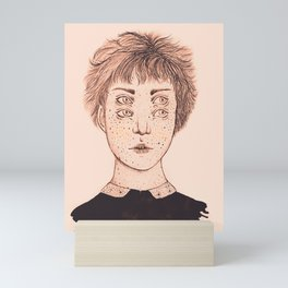 Mrs Foureyes Mini Art Print