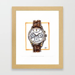 Frederique Constant Flyback Chronograph Live Painting Framed Art Print