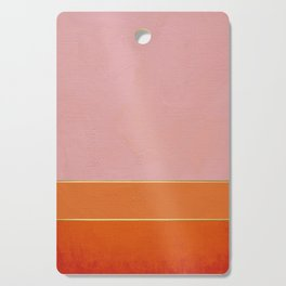 Orange, Pink And Gold Abstract Painting Cutting Board