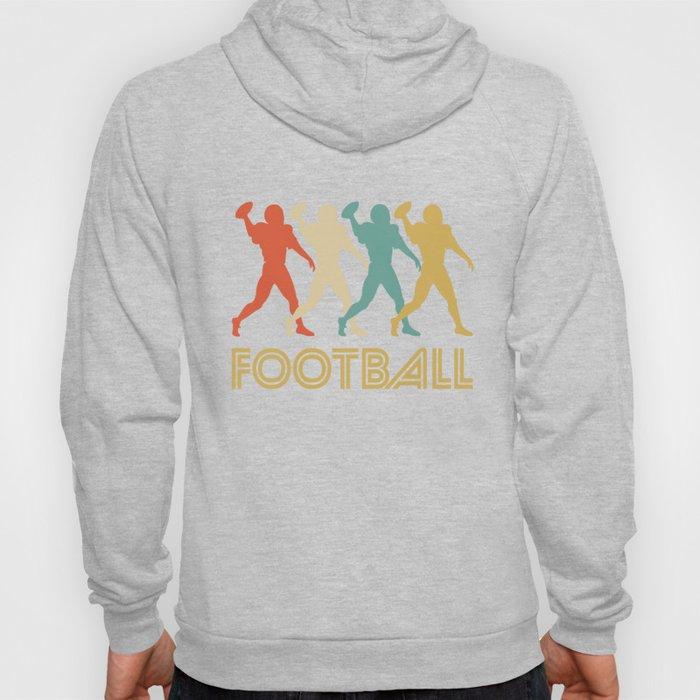 Quarterback Retro Pop Art Football Graphic Hoody