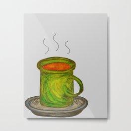 Green mug Metal Print
